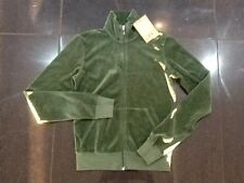 "NWT  Juicy Couture New & Genuine Ladies Small Green Velour Jacket & ""J"" Pull"
