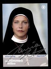 Janina Hartwig Um Himmels willen Autogrammkarte Original Signiert # BC 60408