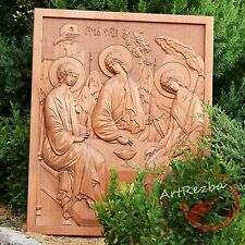 """26"""" The Most Holy Trinity - 3D Art Orthodox Wood Carved Icon Gift - 20"""" x 16"""""""