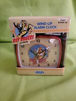 Vintage Roy Rogers and Trigger Alarm Clock Twin Bell Schylling Wind Up NIB