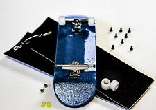 DiamondKey-D8X Deck: PROFESSIONAL Wooden Fingerboard Complete --32MM WIDE--Blue