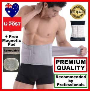 Premium Lumbar & Lower Back Support Belt Brace Strap+Free Removable Magnetic Pad