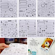6 Blatt Notebook Album Kalender Memo Tagebuch Planer Notizen Papier AufkleberUWT