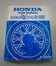 Workshop Manual/Workshop Manual Honda Gl 1200 D/A From 1984