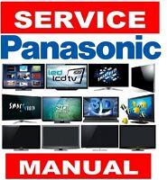 Panasonic Plasma LCD LED 3D Smart UHD 4K TV Service Manual and Schemtics