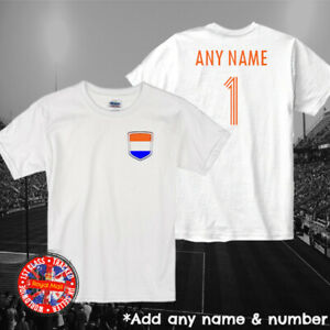 Netherlands Holland Kids Personalised Football T-shirt Euros World Cup