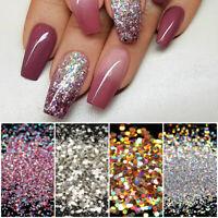 10g Nail Glitter Powder Colorful Nail Powder Shining Nail Sequins Flakies Decor