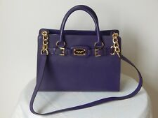 42df05e42d21 NWT $298 MICHAEL KORS HAMILTON LEATHER EW IRIS CHAIN SATCHEL CROSSBODY  HANDBAG