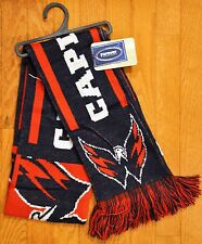 "Washington Capitals Knit Winter Neck Scarf NEW NHL 65"" 2011 Great Design!"