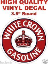 Vintage Style White Crown Gasoline Gas Pump Oil Decal - The Best!