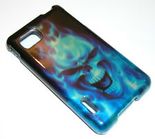 Blue Skull Hard Case Snap-on Phone Cover for LG Optimus F3 MS659 P659