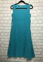 PER UNA M&S LADIES DRESS SIZE 10 REGULAR BLUE COTTON SUMMER HOLIDAY DRESS