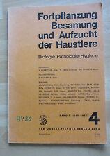 DDR Buch Fortpflanzung Besamung Aufzucht Haustiere Biologie Pathologie Hygiene