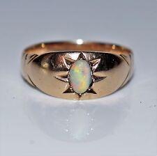 Edwardian Marquise Opal 9ct Rose Gold Band Ring size O ~ 7 1/4