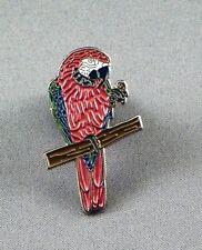 Metal Enamel Pin Badge Brooch Macaw Parrot Bird Red