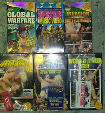 Lot of 6 WWF WWE VHS Coliseum Videos Factory Sealed C Hogan Warrior Undertaker