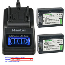 Kastar Battery LCD Quick Charger for Sony NP-FV50 DCR-SX15 DCR-SX20 DCR-SX21