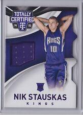 Nik Stauskas 2014-15 Totally Certified Purple Die Cut Rookie Jersey /99