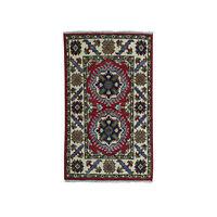 2'x3' Red Kazak Geometric Design Pure Wool Hand-Knotted Oriental Rug R50804