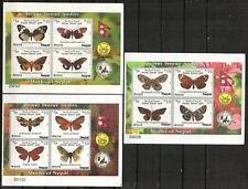 Nepal Stamp - Moths of Nepal Stamp - NH