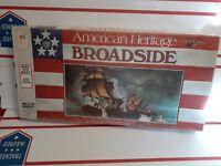 American Heritage BROADSIDE NAVAL BATTLE GAME BY MILTON BRADLEY 1975