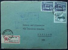 Polonia: BV a VEB fotocamera e cinema opere Dresda 1966 con Michel n. 1215 e 1713