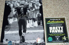 GREEN BAY PACKERS BRETT FAVRE 4 AUTOGRAPHED SIGNED TUNNEL 8x10 PHOTO FARVE COA