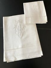 ANTIQUE LINENS - CIRCA 1890-1900, IRISH LINEN SHEET, PILLOWCASE # 2