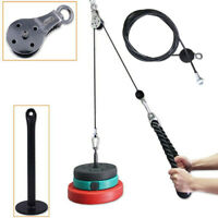 Pulley Cable Machine System Training Triceps Biceps Shoulders Chest For Home
