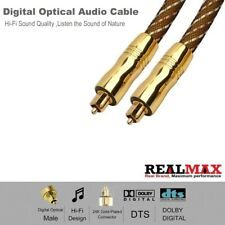 3M Optical Toslink Cable Digital Audio HQ 4mm Lead GOLD Plated for Soundbar/PS4