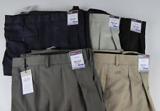 Roundtree & Yorke Travel Smart Ultimate Comfort Stretch NWT Pleated Dress Pants
