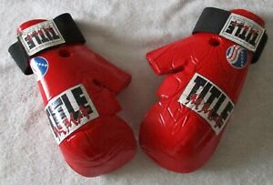 Youth Title MMA Red Sparring Gloves