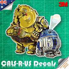Famous FAT Series Star Wars R2D2 & 3CPO Car Decal Sticker Luggage 3M Film 100mm