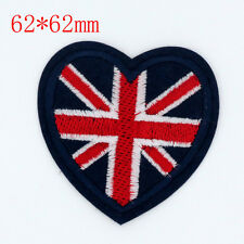 British flag Design Embroidered Cloth Iron On Patches Sewn Motif Applique badge