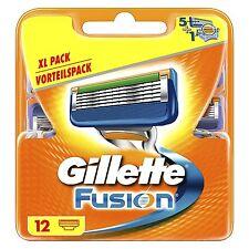 12 Gillette Fusion Lames De Rasoir Original & 12 Paquet