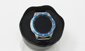 Samsung Galaxy Watch SM-R805U 46mm Blue & White Bezel Metal Band Smart Watch