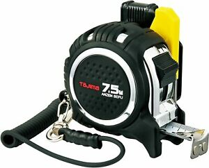 New TAJIMA MEASURING TAPE WITH SAFETY CODE AND HOLDER (W25mm/L7.5m) CAZ4M2575