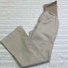 Motherhood Maternity Khaki Dress Pants Size Small S Full Panel Secret Fit Belly