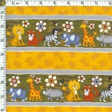 Animal Zebra Lion Tiger Elephant Floral Cotton Fabric By The Yard Timeless
