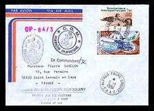 France TAAF 1984 Marion Dufresne Cover / Crozet CDS / Signed (II) - L6392