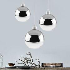 Modern Large Metallic Chrome Glass Globe Ceiling Pendant Light Shade Shades