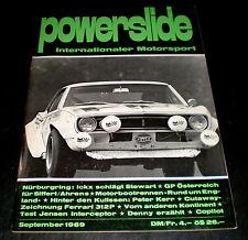 Powerslide 09/69 Test Jensen Interceptor, Ferrari 312 P, GP von Deutschland 1969