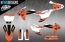 KTM GRAPHICS 125 250 350 450 SX SXF EXC EXC-F 2007-2010 DECAL KIT MX STICKERS