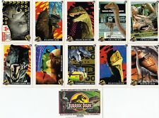 JURASSIC PARK MOVIE SERIES 1 1993 TOPPS GERMANY MINI STICKER PUZZLE CARD SET 11