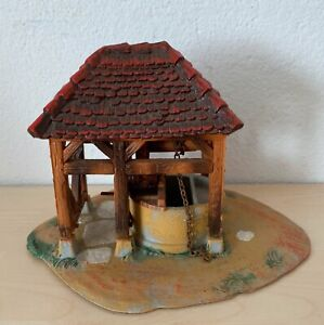 Hausser Elastolin Brunnen zur Schmiede für 4 cm Normannen Figuren