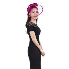 Janeo Headwear Fascinator Hat,Wide Net Brim Satin Bows Wedding,Special Occasion