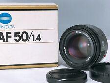 【 MINT +++】 MINOLTA AF 50 mm F/1.4 for Minolta Sony Alpha A Mount from JAPAN 166