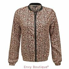 BRAVE SOUL WOMENS LEOPARD PRINT LIGHT WEIGHT WATERPROOF SUMMER LADIES JACKET