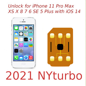 NYturo iPhone Unlock sim for iPhone 13 12 11 XS X 8 7 SE Sprint TMobile R iOS 15