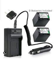 Kastar Battery 2 Pack + Charger for Sony NP-FV30 NP-FV40 NP-FV50 & Handycam 430V